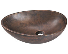 "Polaris P659 Vessel Bathroom Sink 19 1/2"" W x 13 1/4"" L - Aged Patina Bronze"