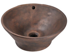 "Polaris P559 Vessel Bathroom Sink 16"" Diameter - Aged Patina Bronze"