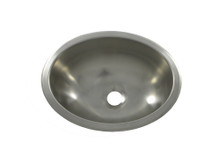 """Opella 17135.046 13"""" x 10 1/2"""" Oval Bar Sink - Undermount Or Drop-In - Brushed Stainless"""
