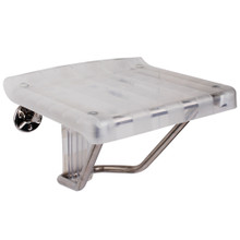 "DreamLine Folding Shower Seat Water-resistant Plastic - Wall Mounted  SHST-01-PL - 12""D x 15""W - Chrome"