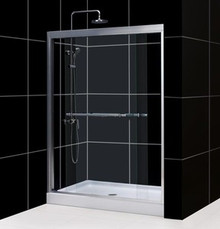 "DreamLine DUET 56""-60"" x 72"" Bypass Sliding Shower Door - Chrome or Brushed Nickel Trim - SHDR-1260728"