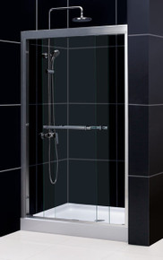 "DreamLine DUET 44""-48"" x 72"" Bypass Sliding Shower Door - Chrome or Brushed Nickel Trim - SHDR-1248728"