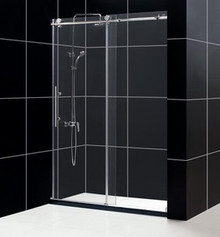 "DreamLine ENIGMA-X 56""-60"" x 76"" Shower Door - Brushed Stainless Steel or Polished Stainless Steel - SHDR-61607610"