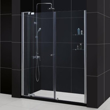 "DreamLine ALLURE Adjustable Pivot Shower Door 48"" - 55"" x 72"" H Reversible for Left or Right Install - Chrome - SHDR-4248728-01"