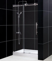 "DreamLine ENIGMA-X 44""-48"" x 76"" Shower Door - Brushed Stainless Steel or Polished Stainless Steel - SHDR-61487610"