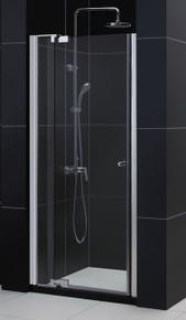 """Dreamline Allure Pivot Shower Door 36"""" - 43"""" x 72"""" - Reversible for Left or Right Install - Chrome SHDR-4236728-01"""