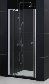 "Dreamline Allure Pivot Shower Door 36"" - 43"" x 72"" - Reversible for Left or Right Install - Chrome SHDR-4236728-01"