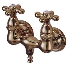 "Kingston Brass 3-3/8"" Wall Mount Clawfoot Tub Filler Faucet - Polished Brass CC37T2"