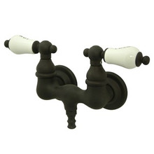 "Kingston Brass 3-3/8"" Wall Mount Clawfoot Tub Filler Faucet - Oil Rubbed Bronze CC33T5"