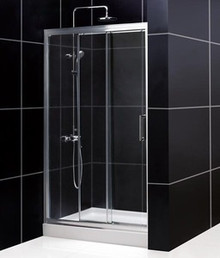 "DreamLine UNIDOOR 27"" x 72"" Frameless Shower Door - Chrome or Brushed Nickel Trim - SHDR-20277210F"