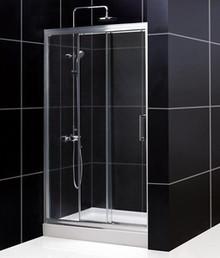 "DreamLine UNIDOOR 27"" x 72"" Frameless Shower Door - Chrome or Brushed Nickel Trim - SHDR-20277210F"