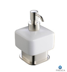 Fresca Solido FAC1361BN Lotion Dispenser (Free Standing) - Brushed Nickel