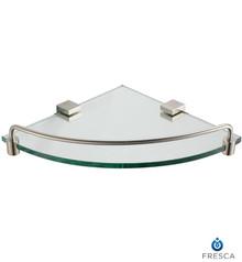 Fresca Ottimo FAC0448BN Corner Glass Shelf - Brushed Nickel