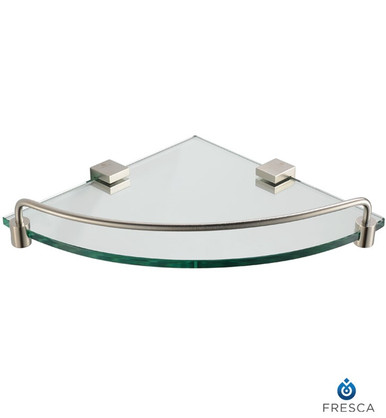 Fresca Ottimo FAC0448BN Corner Glass Shelf - Brushed Nickel