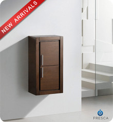 "Fresca FST8140WG 15.75""W x 32""H Bathroom Linen Side Cabinet w/ 2 Doors - Wenge Brown"