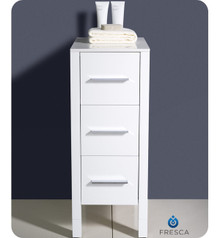 "Fresca Torino FST6212WH 12"" White Bathroom Linen Side Cabinet 12"" H X 17.75"" W X 28.13"" L - White"