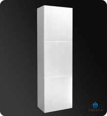 "Fresca FST8090WH Bathroom 17.75""W x 59""H Linen Side Cabinet w/ 3 Large Storage Areas - White"