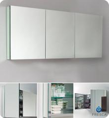"""Fresca FMC8019 59"""" Wide Bathroom Medicine Cabinet 26"""" H X 59"""" W w/ Mirrors"""