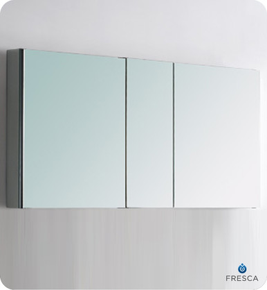 """Fresca FMC8013 49"""" W Bathroom Medicine Cabinet 26"""" H X 49"""" W w/ Mirrors"""