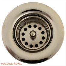 "Linkasink D001 PN 1 7/8"" Junior Bar or Lav Sink Basket  Strainer & Flange  - Polished Nickel"