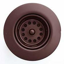 """Linkasink D001 DB 1 7/8"""" Junior Bar or Lav Sink Basket  Strainer & Flange  - Dark Bronze"""