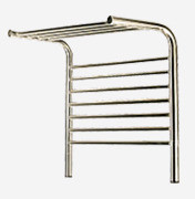 "Amba Jeeves MSO-20 Model M 20 1/2"" W x 22"" H x 15 1/4"" D Straight Electric Heated Towel Warmer - Oil Rubbed Bronze"