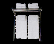 """Amba Jeeves MSW-20 Model M 20 1/2"""" W x 22"""" H x 15 1/4"""" D Straight Electric Heated Towel Warmer - White"""