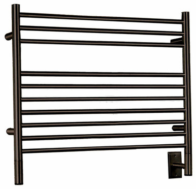 "Amba Jeeves LSO-40 Model L 39 1/2"" W x 27"" H x 4 1/2"" D Straight Electric Heated Towel Warmer - Oil Rubbed Bronze"