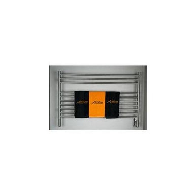 "Amba Jeeves LSB-40 Model L 39 1/2"" W x 27"" H x 4 1/2"" D Straight Electric Heated Towel Warmer - Brushed Stainlesss"