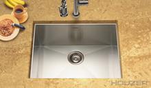 "Houzer Contempo CTS-2300 Zero Radius Undermount 23"" x 18"" Single Bowl Kitchen Sink - Stainless Steel"