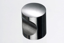 "Top Knobs Stainless SS22 1"" Indent Cabinet Knob - Stainless Steel"