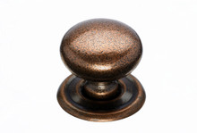 "Top Knobs Britannia M26 1 1/4"" Victoria Cabinet Knob with Backplate - Old English Copper"