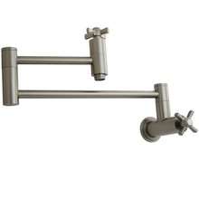 Kingston Brass Wall Mounted Pot Filler Faucet - Satin Nickel
