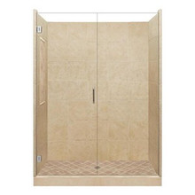 "American Bath P21-2608P 48""L X 32""W Supreme Single Threshold Shower Package & Accessories - Includes Pan, Walls, and Glass"