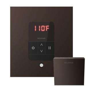 Mr. Steam MSITEMPOSQ-ORB iTempo Square In-Shower Control with Matching AromaSteam Steamhead  - Oil Rubbed Bronze