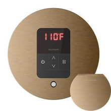 Mr. Steam MSITEMPORD-BB iTempo Round In-Shower Control with Matching AromaSteam Steamhead  - Brushed Bronze