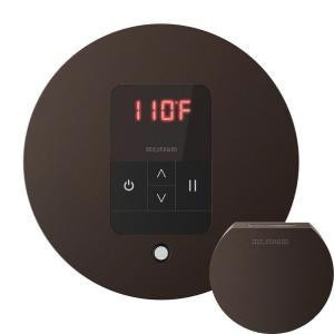 Mr. Steam MSITEMPORD-ORB iTempo Round In-Shower Control with Matching AromaSteam Steamhead  - Oil Rubbed Bronze