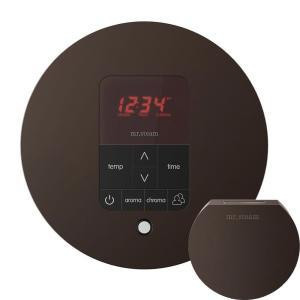 Mr. Steam MSITPLUSRD-ORB iTempo Plus Round Control with AromaSteam Steam Head for Steam Bath Generator  - Oil Rubbed Bronze