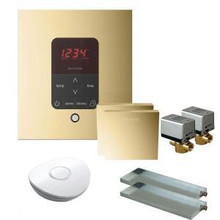 Mr. Steam MSBUTLER2SQ-PB Butler Package with (2) iTempo Pro Square Programmable Control for Steam Bath Generator - Polished Brass