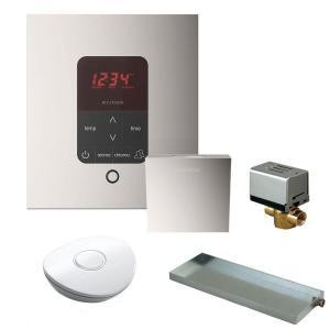 Mr. Steam MSBUTLER1 SQ-PN Butler Package with iTempo Pro Square Programmable Control for Steam Bath Generator - Polished Nickel