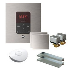 Mr. Steam MSBUTLER2SQ-BN Butler Package with (2) iTempo Pro Square Programmable Control for Steam Bath Generator - Brushed Nickel