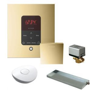 Mr. Steam MSBUTLER1 SQ-PB Butler Package with iTempo Pro Square Programmable Control for Steam Bath Generator - Polished Brass