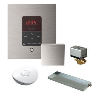 Mr. Steam MSBUTLER1 SQ-BN Butler Package with iTempo Pro Square Programmable Control for Steam Bath Generator - Brushed Nickel