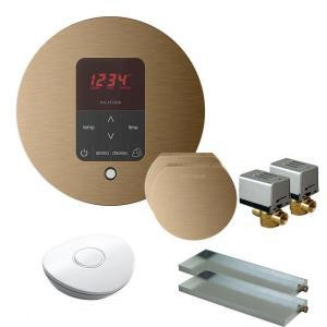 Mr. Steam MSBUTLER2RD-BB Butler Package with (2) iTempo Pro Round Programmable Control for Steam Bath Generator - Brushed Bronze