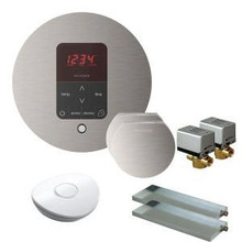 Mr. Steam MSBUTLER2RD-BN Butler Package with (2) iTempo Pro Round Programmable Control for Steam Bath Generator - Brushed Nickel