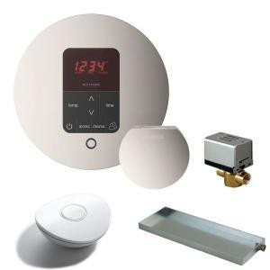 Mr. Steam MSBUTLER1 RD-PN Butler Package with iTempo Pro Round Programmable Control for Steam Bath Generator - Polished Nickel