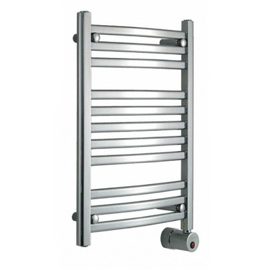 Mr. Steam W228 PC Curved 28H x 20W Wall Mounted Towel Warmer   - Polished Chrome