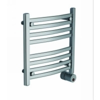 Mr. Steam W219 PC Curved 20H x 20W Wall Mounted Towel Warmer   - Polished Chrome