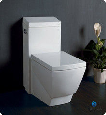 Fresca FTL2336 One-Piece Square Toilet W/ Soft Close Seat  - Ceramic
