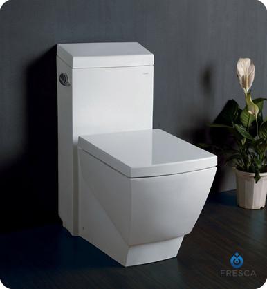 Fresca FTL2336 One-Piece Square Toilet W/ Soft Close Seat  - Ceramic